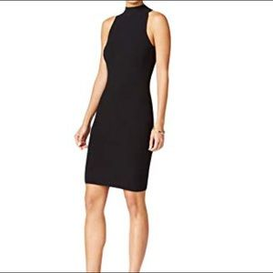 Bar III mock neck ribbed dress